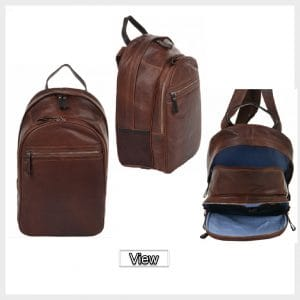 Leather Backpack Rucksack for School