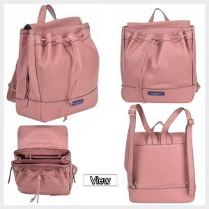 Leather Backpack for Girls