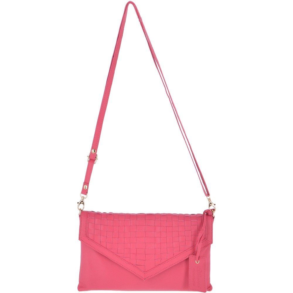 f6802ef7a0eb ASHWOOD 2 in 1 Clutch And Shoulder Bag Fuchsia Pink   Ela 1417 ...