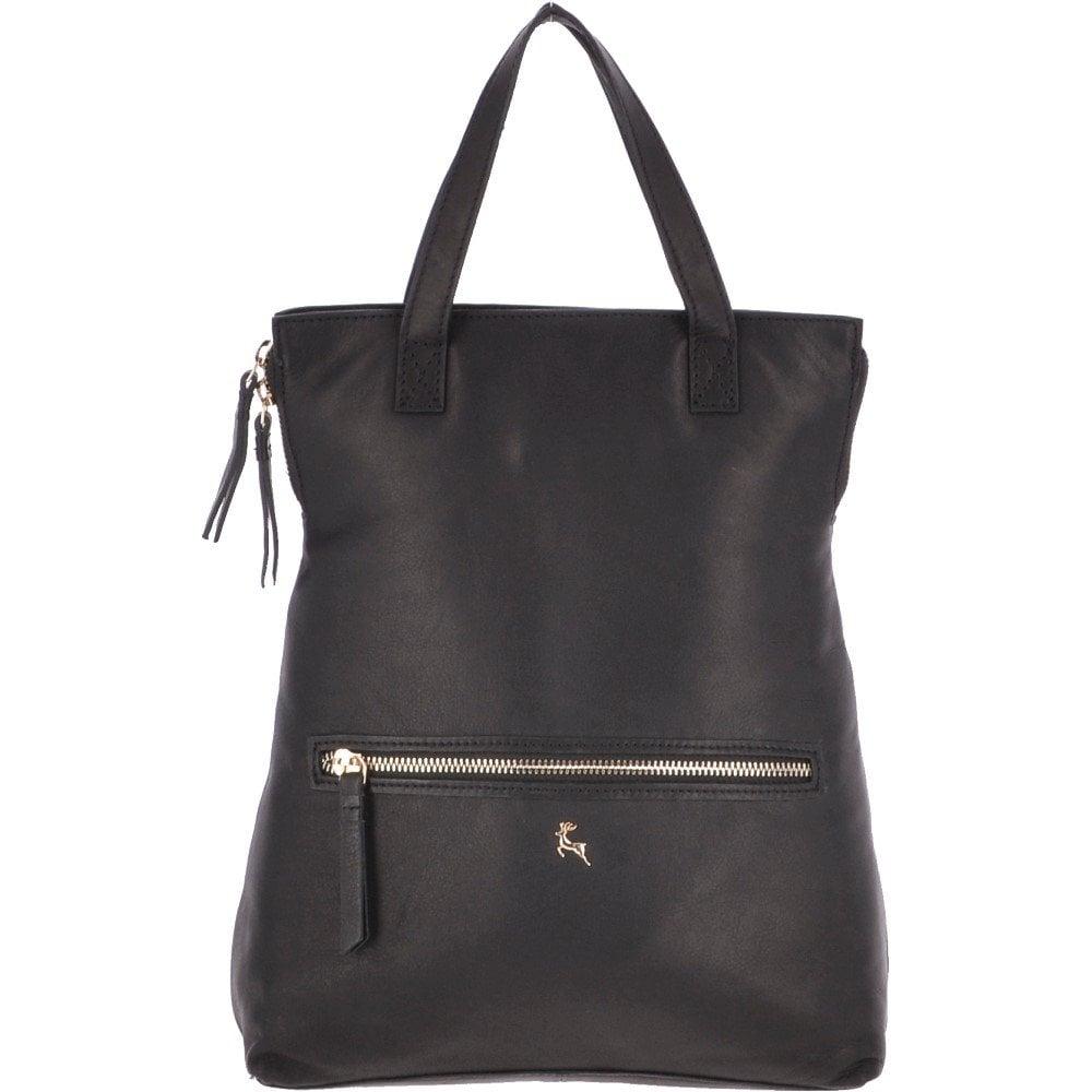 27e2630f781 2 in 1 Leather Backpack Handbag Black : Ela 1608 - Handbags from ...