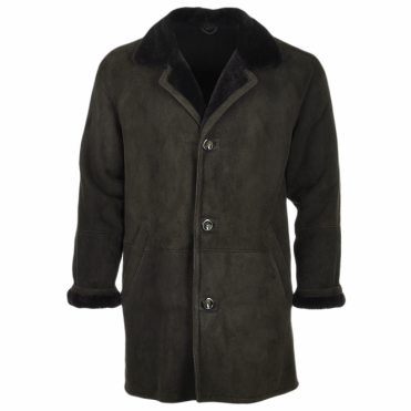 Buffed Sheepskin Coat  Brown : Emelio