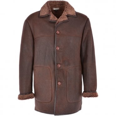 77bcd1478a4a Classic Sheepskin Coat Brown   Churchill