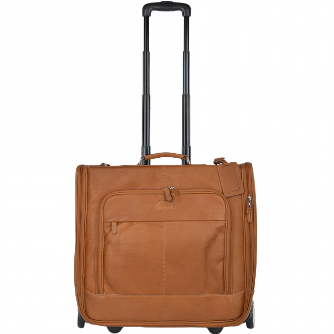 Ashwood Columbian Leather Wheeled Suit Carrier Tan : 8149