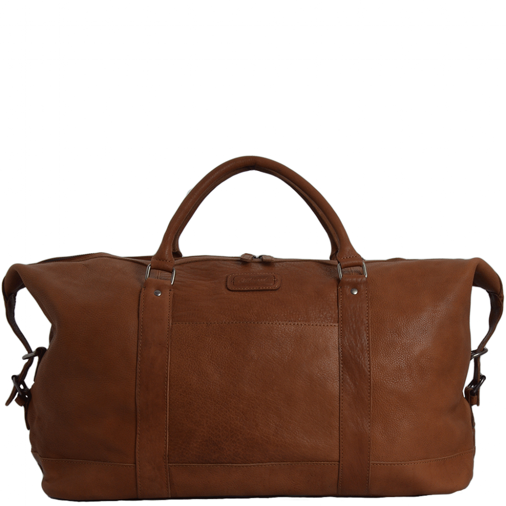 Mens Travel Bag Extra Large Leather Travel Holdall Tan