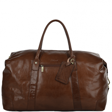 Extra Large Vegetable Tanned Leather Travel Holdall Chestnut : Lewis