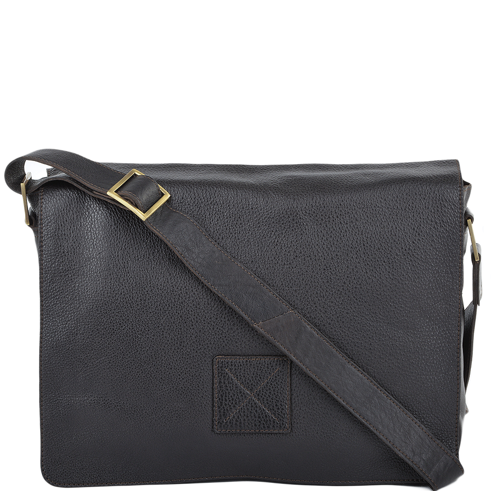 Mens Five Pocket Carry All Leather Messenger Bag Brown tum   Pedro b7758b2d22887