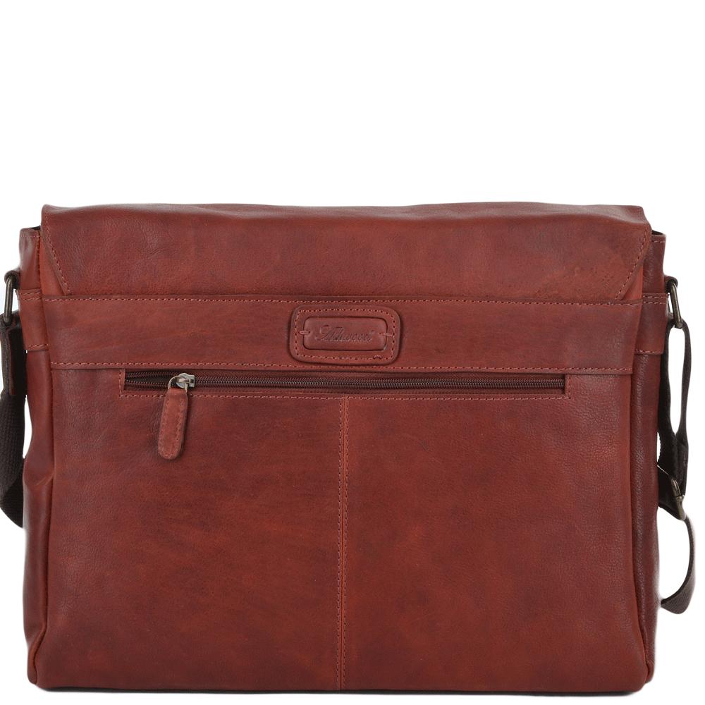 011844f9a3ea Five Pocket Carry All Leather Messenger Bag Cognac   Pedro