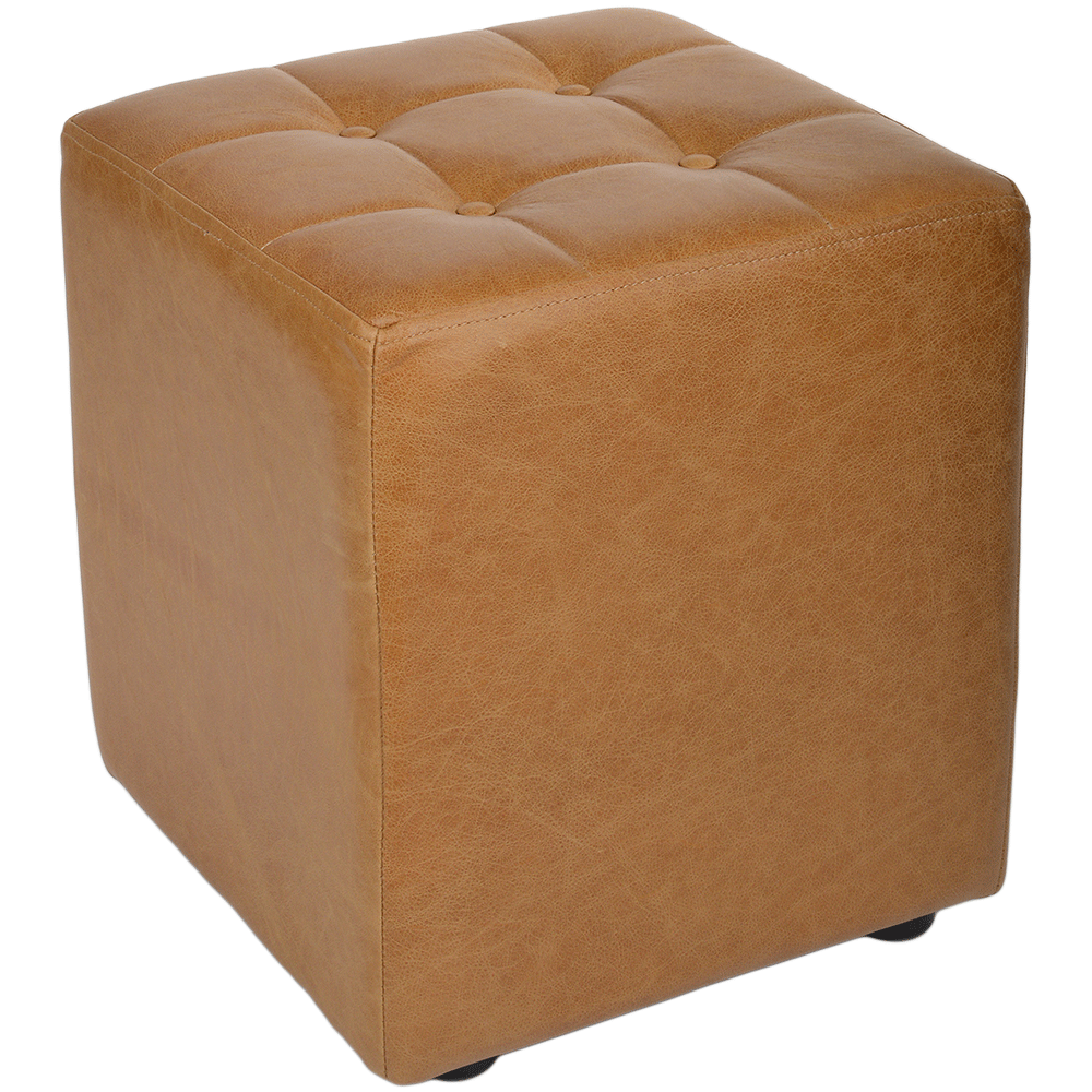 Full Grain Handcrafted Vintage Leather Cube Stool Light Tan Lincoln  sc 1 st  Leather Company & Leather Stools islam-shia.org