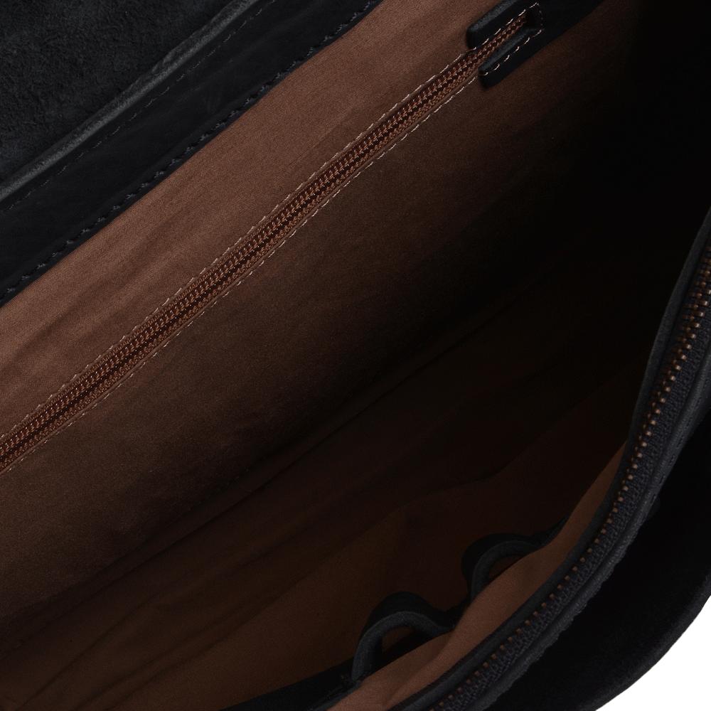 ea57fce180d3 Full Grain Large Leather Messenger Bag Black   Bradley