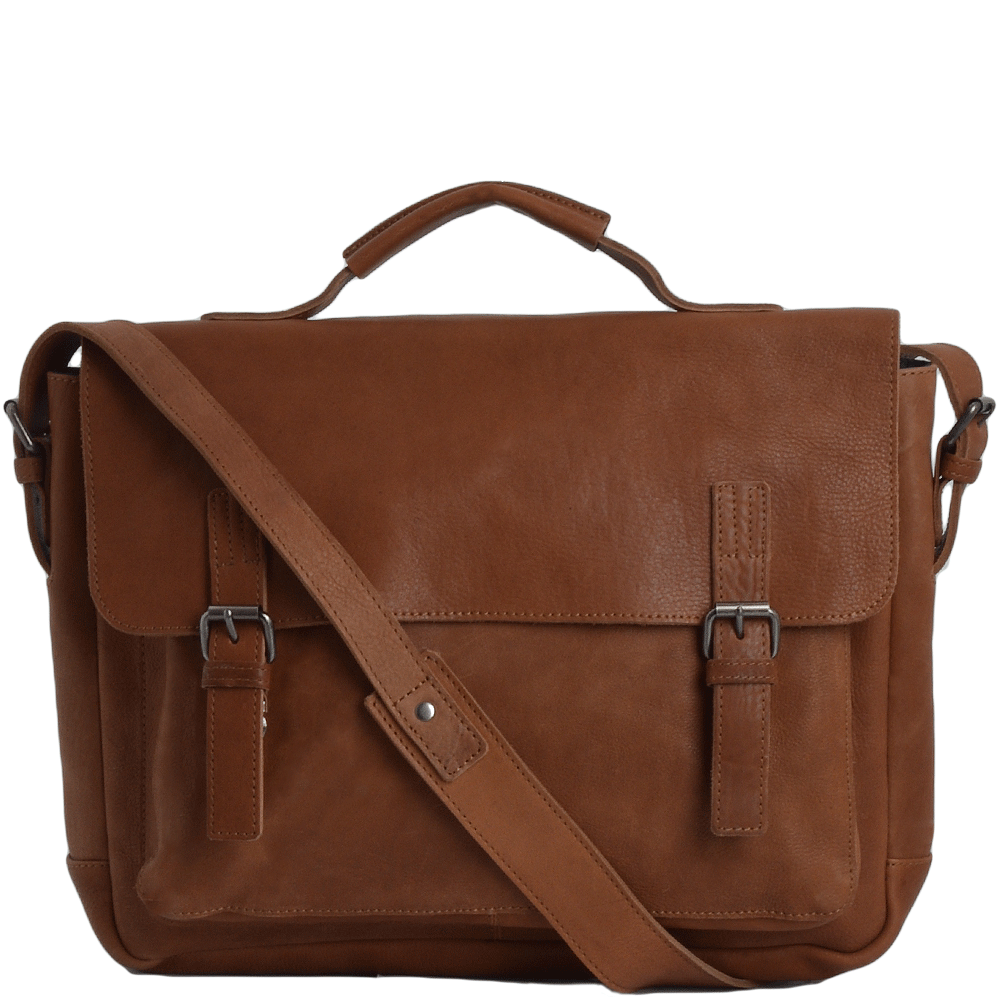 Full Grain Large Leather Messenger Bag Tan   Bradley ecbd62c4c