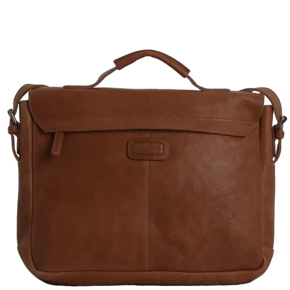 633fc2fb111b Full Grain Large Leather Messenger Bag Tan   Bradley