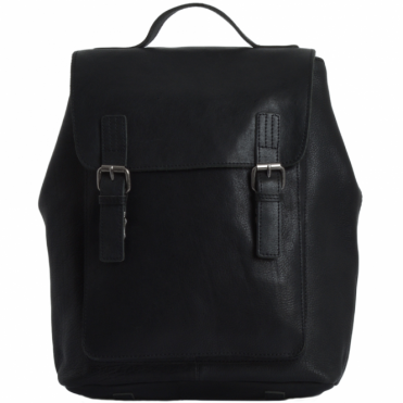 Full Grain Leather Backpack Black : Ryan