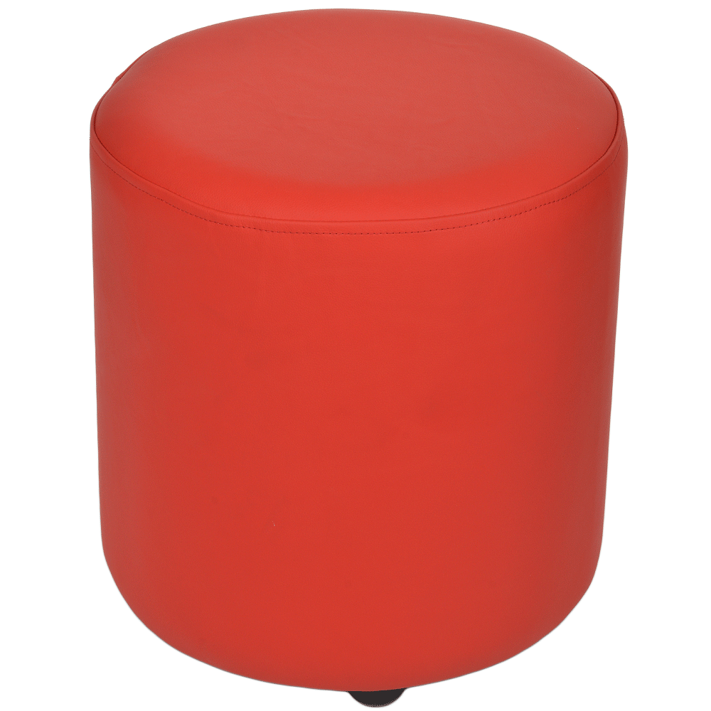 Remarkable Full Grain Leather Handcrafted Round Stool Red Worcester Uwap Interior Chair Design Uwaporg