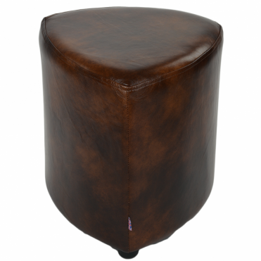 Full Grain Leather Handcrafted Vintage Corner Seat Stool Antique Brown: Warwick