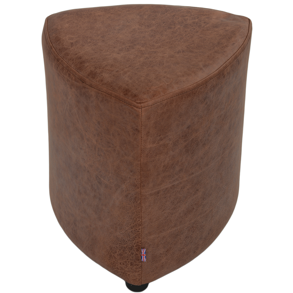 Full Grain Leather Handcrafted Vintage Corner Seat Stool Antique Tan ...