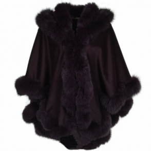 Fur Poncho Purple : Sian