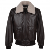 Ashwood G-1 Bomber Leather Jacket With Removable Sheepskin Collar D-brn/1947 : Victor