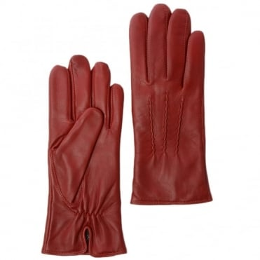 Leather Gloves Red : 401