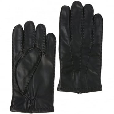 Mens Leather Gloves Black : 710