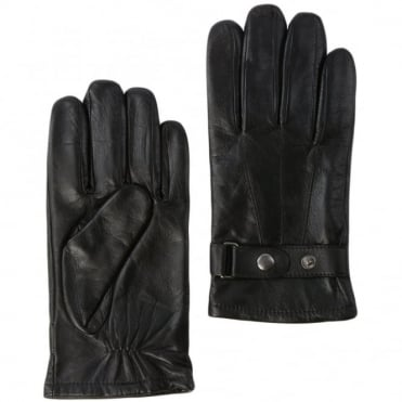Mens Leather Gloves Black : 714