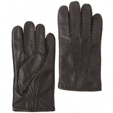 Mens Leather Gloves Brown : 710