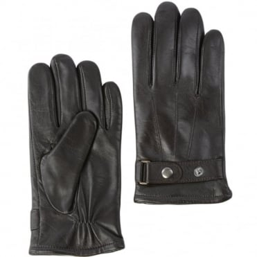 Mens Leather Gloves Brown : 714