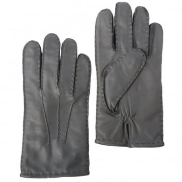 Mens Leather Gloves Gray : 710