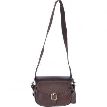 Heritage Handcrafted 100 Capacity Leather Cartridge Bag Brown   Madox 3eb45b00219ef