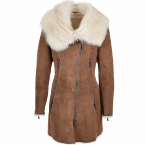Hooded Toscana Coat  Brown : Lyonesse
