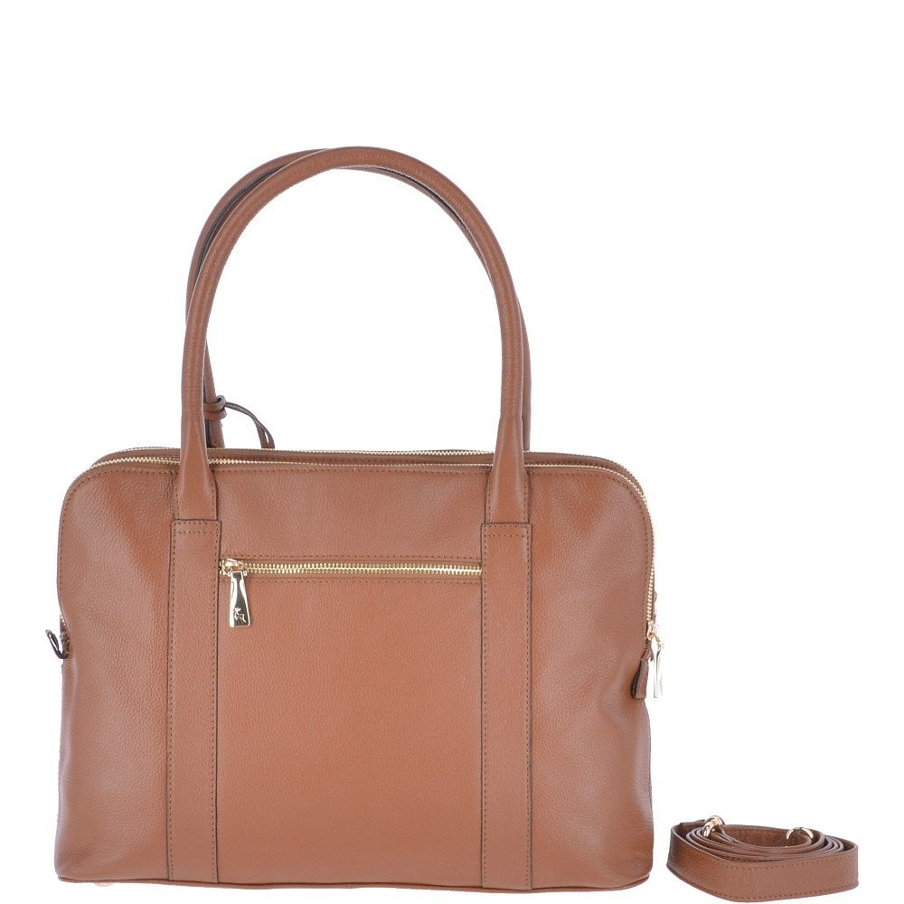 a01f0f5191 ASHWOOD Large Leather 3 Section Work Bag Tan   Gina N - Handbags ...