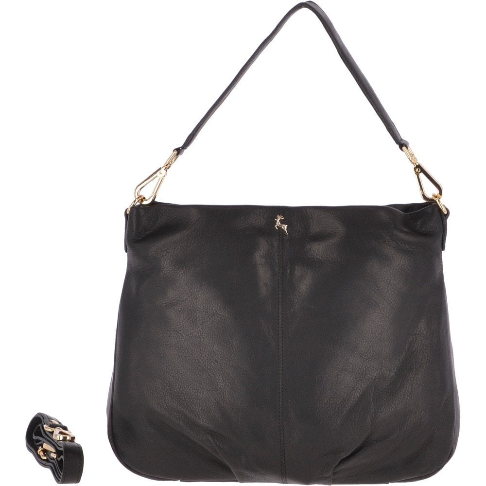 ASHWOOD Large Leather Hobo Bag Black   Ela 1607 - Handbags from ... 2cd1bd623ac45