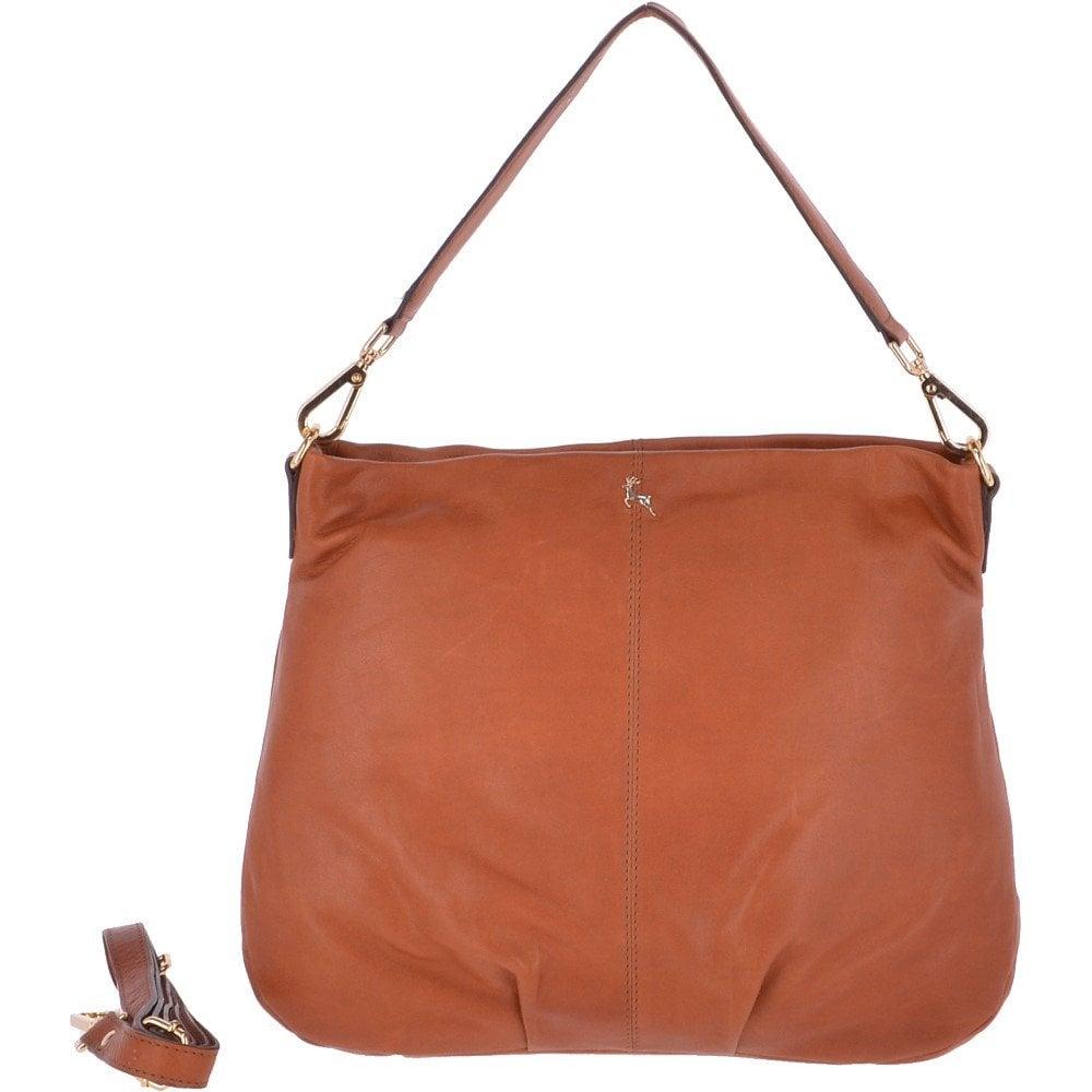 faafad897 Large Leather Hobo Bag Tan : Ela 1607 - Handbags from Leather Company UK