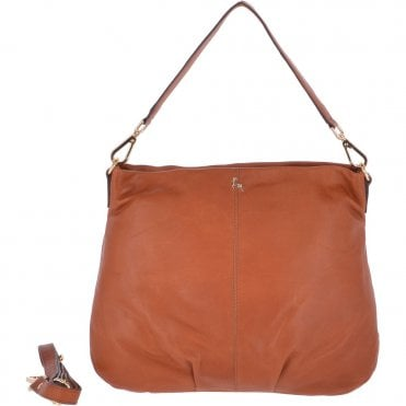 5c19922d138c Large Leather Hobo Bag Tan   Ela 1607