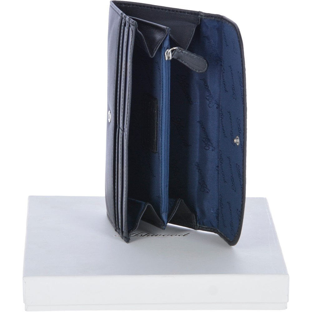 72e25db56 Large Leather Note and Coin Purse Black : Ash-14 - Gift & Accessories from Leather  Company UK