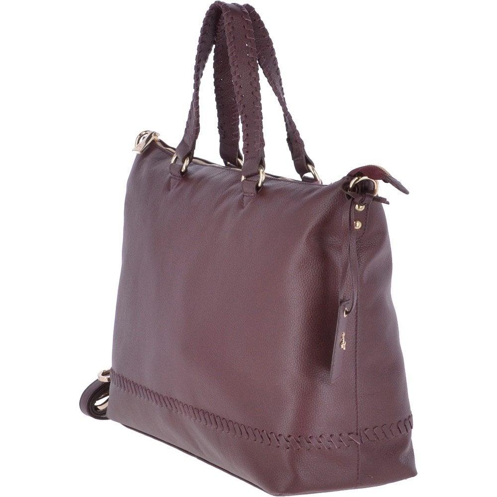 f1679bec491a ASHWOOD Large Leather Shopper Bag Burgundy   62102 - Handbags from ...
