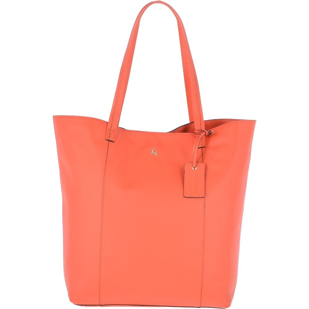 47a7bb468 Large Leather Shopper Tote Bag Orange : 61911 - Handbags from Leather  Company UK