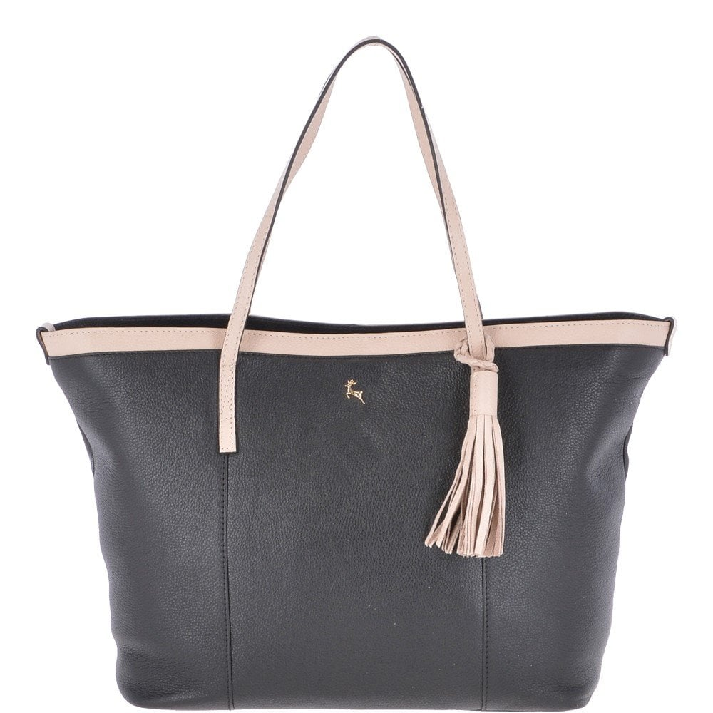 c1e9778ff Large Leather Tote Bag Black/Lychee : 61871 - Handbags from Leather Company  UK