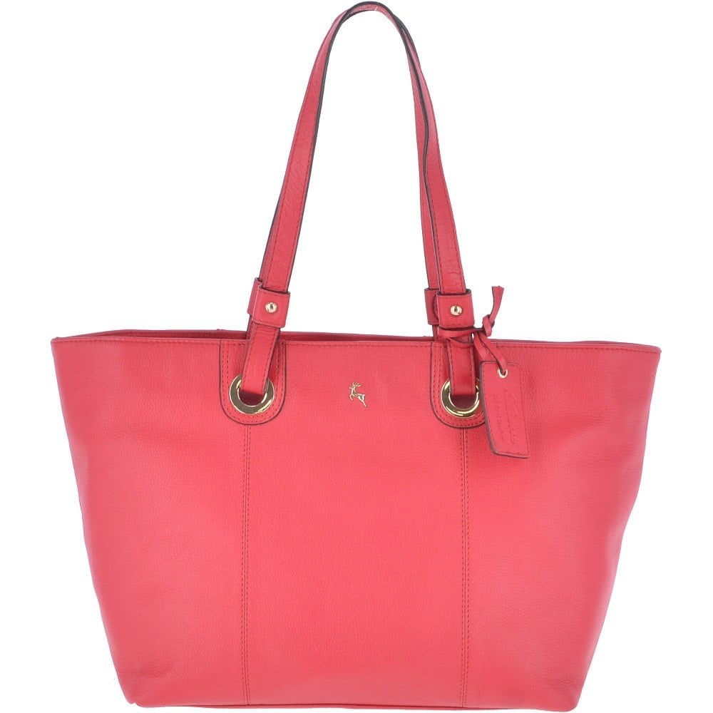 6f7ed8938243 ASHWOOD Large Leather Tote Bag Raspberry   60252 - Handbags from ...