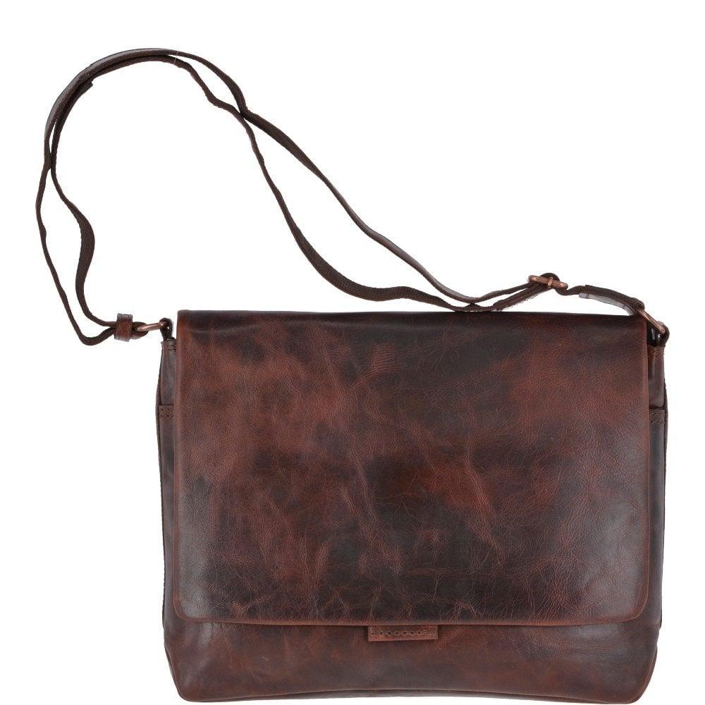 ASHWOOD Large Leather Vintage Messenger Bag Tan   Robin - Mens from ... 136ea5863a5