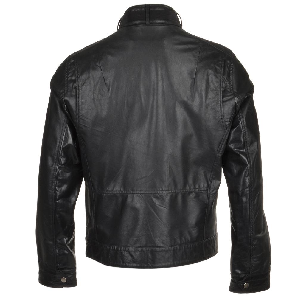 Mens leather biker style jackets