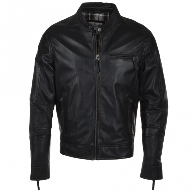 Ashwood Leather Biker Jacket Black : Troy