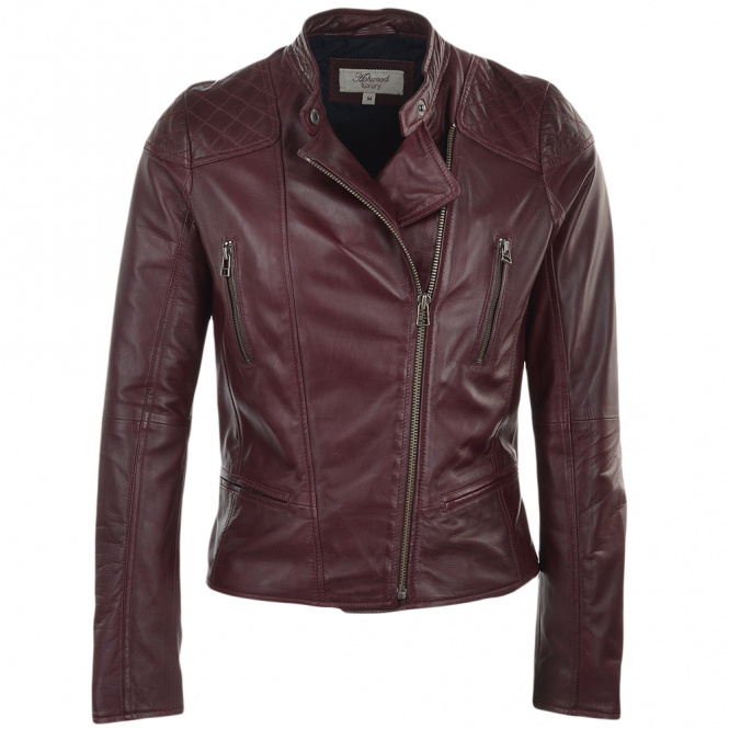 Ashwood Leather Biker Jacket Bordeaux : Kasmira