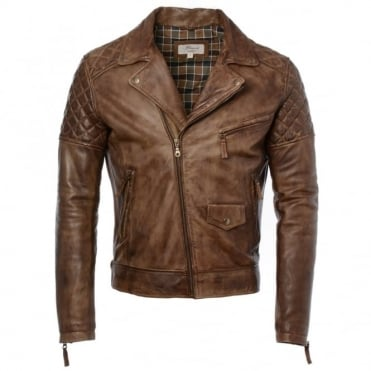 Leather Biker Jacket Timber : Soltau