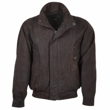 Leather Bomber Jacket Brown/snu : Alfred