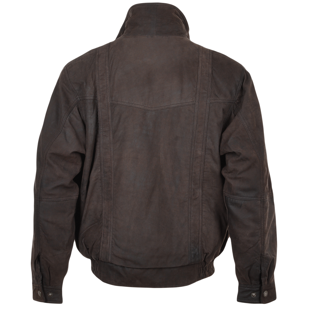 Leather bomber jackets for men on sale