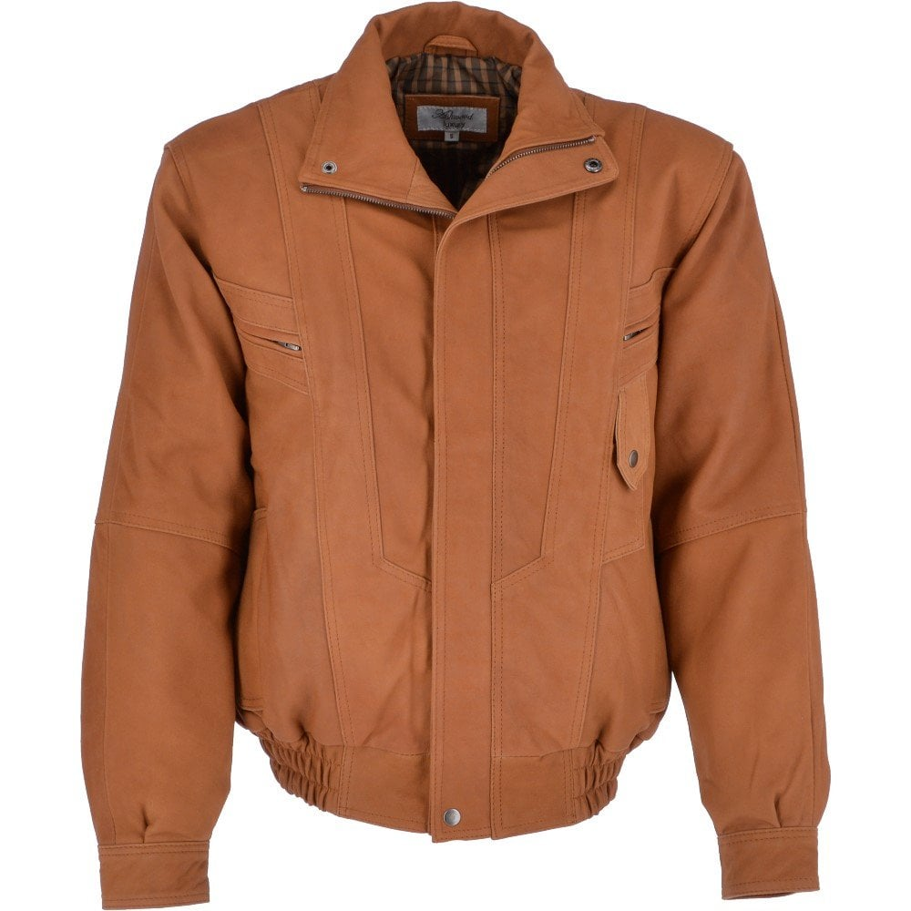 limited guantity for whole family where to buy Leather Bomber Jacket Cognac : Alfred 2