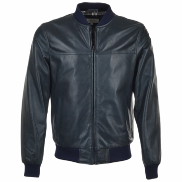 Leather Bomber Jacket Zinc : Danny