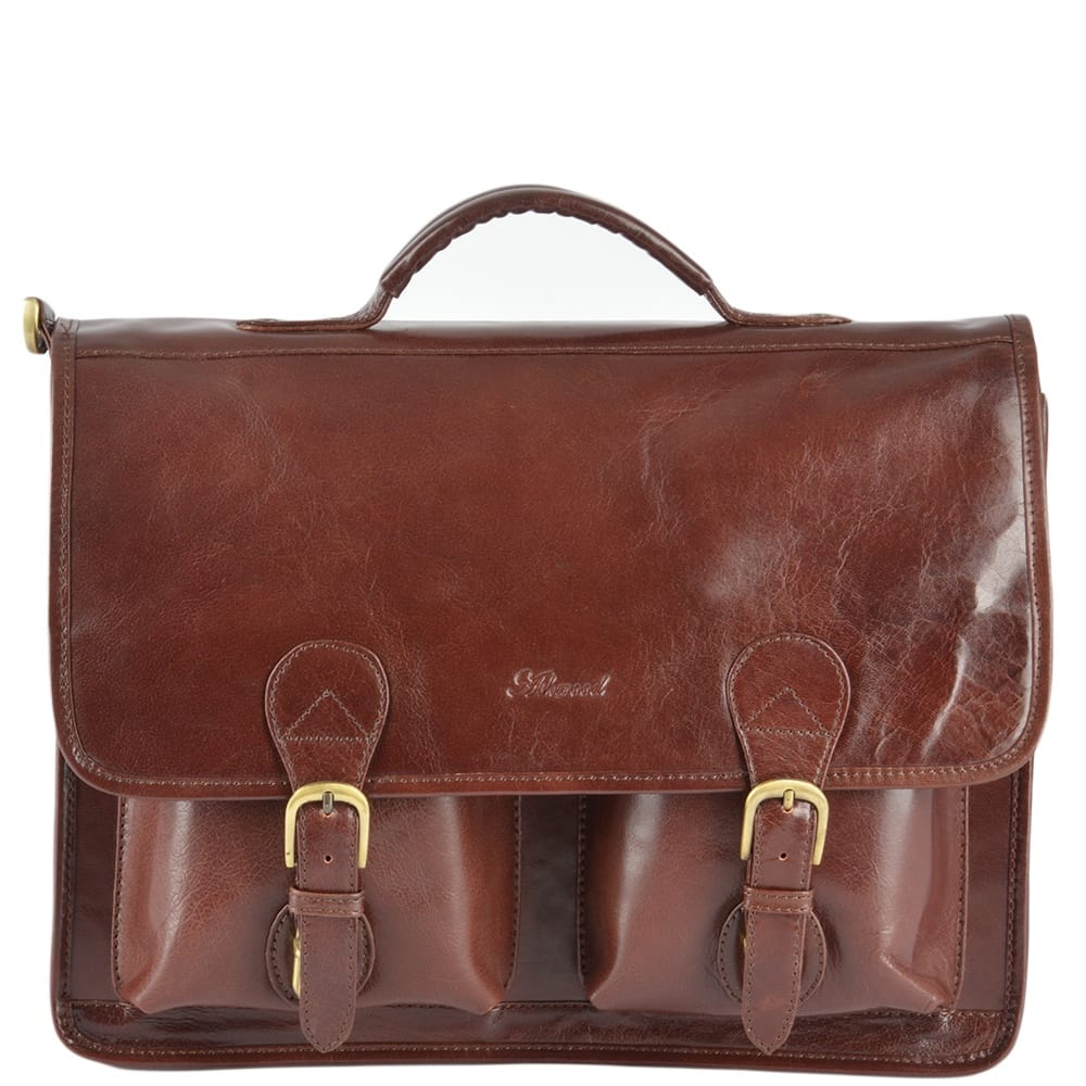 5aa7ae96bf37 Mens Leather Briefcase Cognac vt   8190