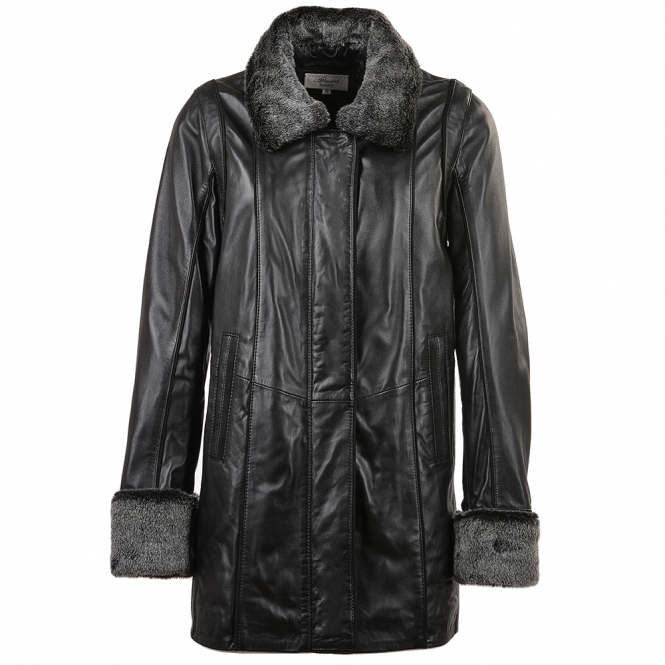 Ashwood Leather Coat Black/ddy : Jacqueline