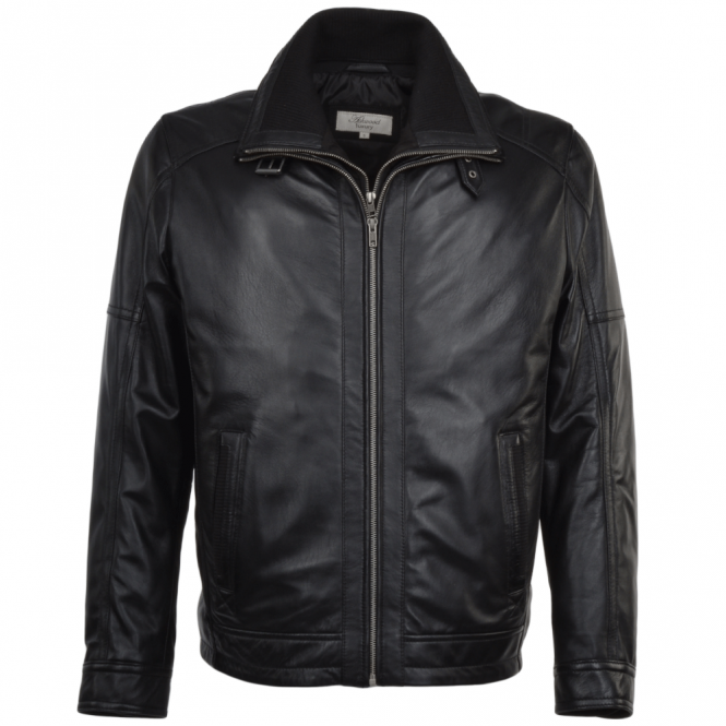 Ashwood Leather Coat Black : Glasgow